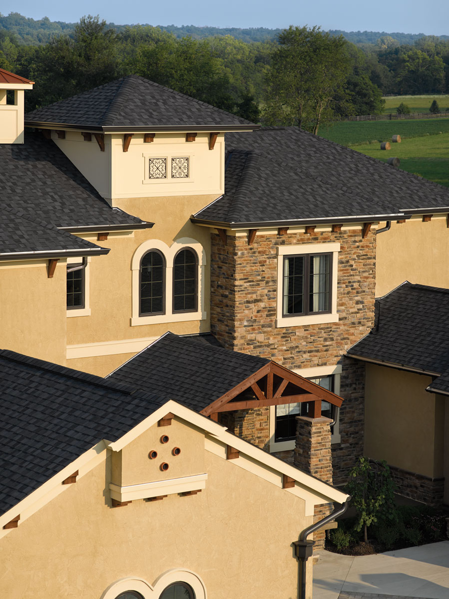 CertainTeed NorthGate Shingles in Moire Black