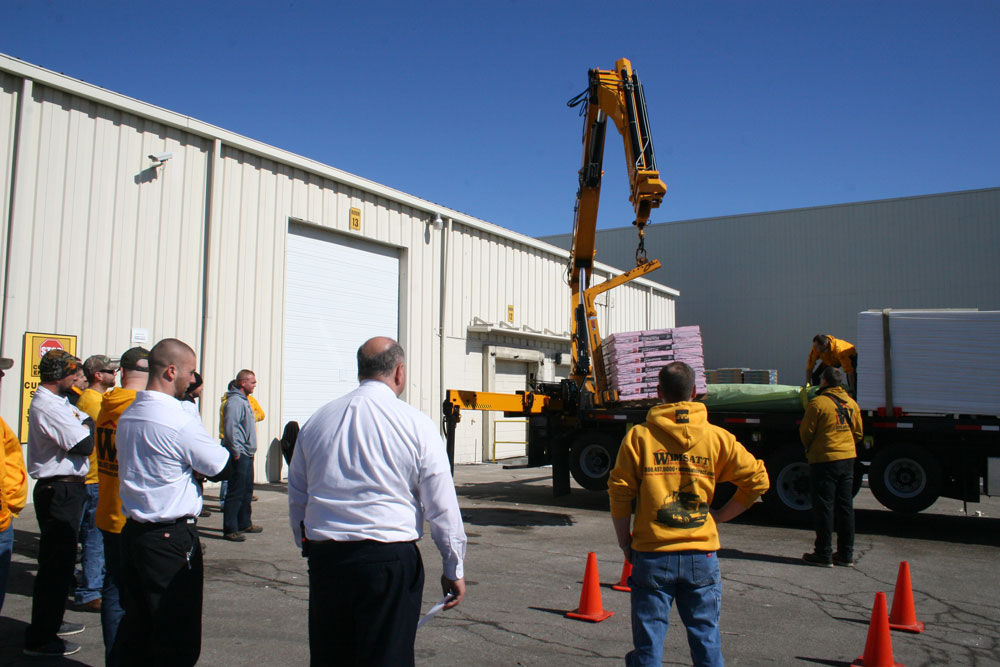 Wimsatt's Director of Safety oversees a crane training event in Saginaw
