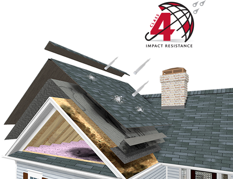 SBS shingles have greater flexibility and granule retention to achieve impact ratings