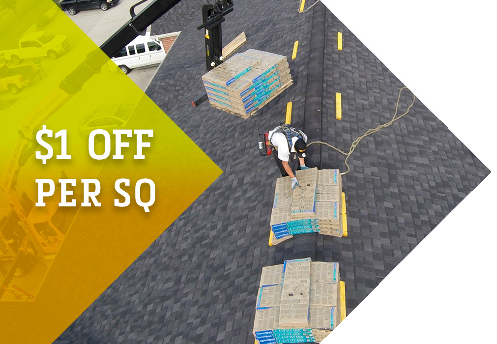 $1 Off/SQ on shingles and vinyl siding ordered through WimsattDirect in June!